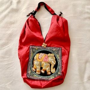 Handmade Thailand Embellished Elephant Handbag